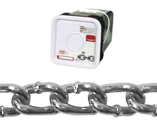 Campbell 0322026 Low Carbon Steel Twist Link Machine Chain in Square Pail in ...