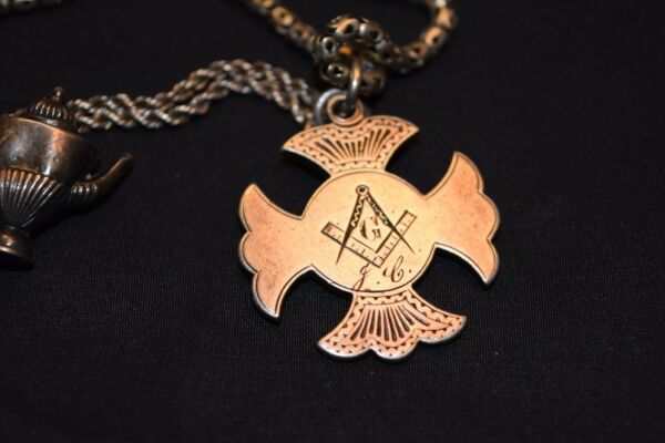 Moffat County Freemason Football Competition Award 29quot; Sterling Chain amp; charms