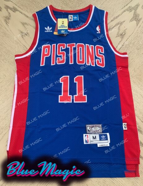 New Isiah Thomas Throwback Swingman Jersey #11 Detroit Pistons Mens S-XXL