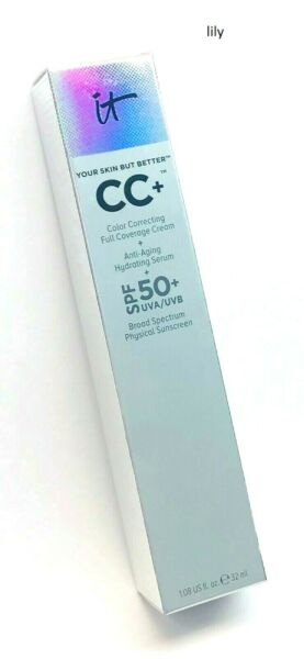 iT Cosmetics Your Skin But Better CC+ CC Full Coverage Cream (PICK SHADE) 1.08oz