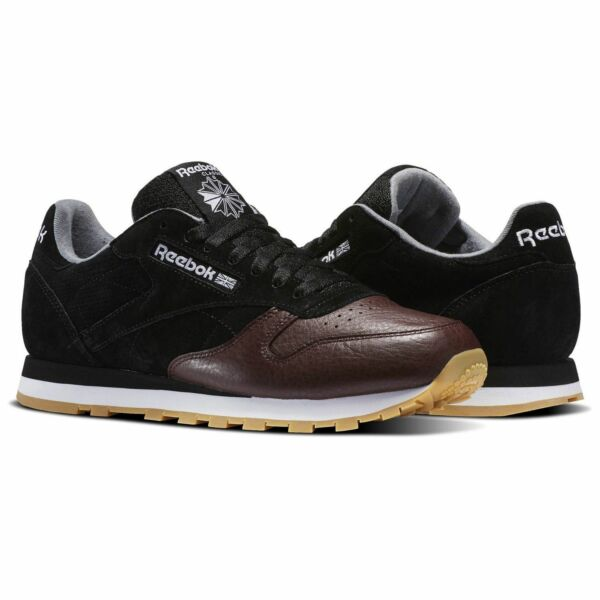Reebok Classic Leather LR Men's Running Training Shoes Black/Burnt Sienna BS5079