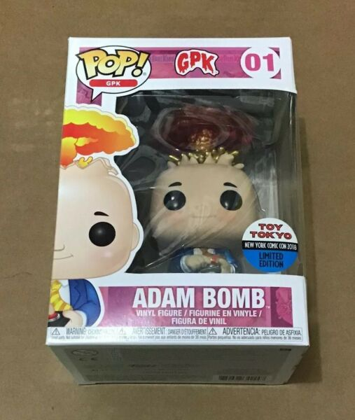 Funko Pop Garbage Pail Kids Adam Bomb Toy Tokyo Exclusive Nycc 2018 Metallic