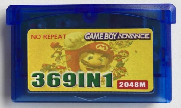 369 in 1 GBA Games - Nintendo GBA SP NDS GameBoy Multicart Cartridge Pokemon US