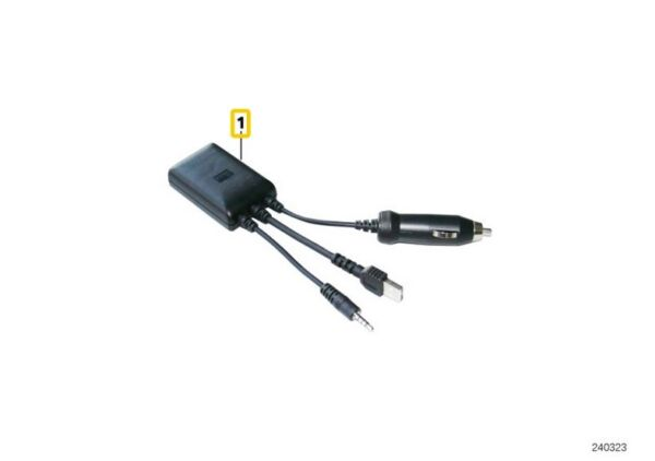 New Genuine BMW iPhone Charger Charging Cable Audio Auxiliary Input OEM