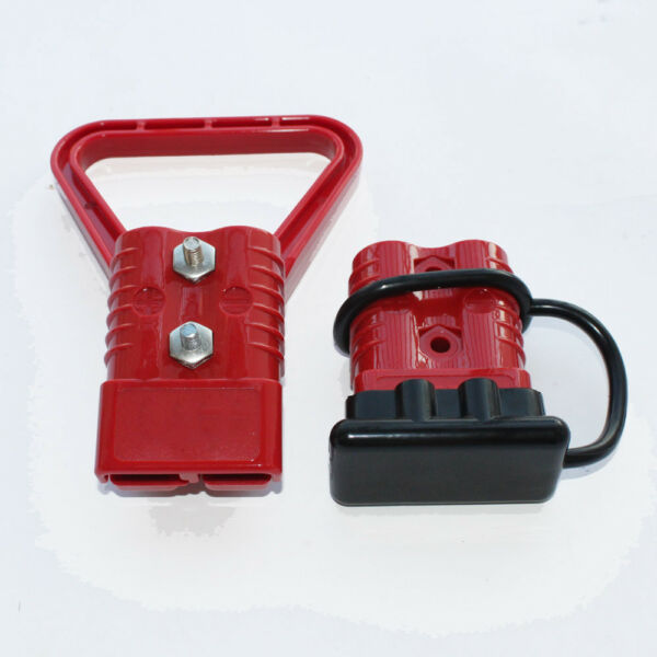 2pcs 20 AWG 350A Battery Red Quick Connect Disconnect Plug Kit with Ca