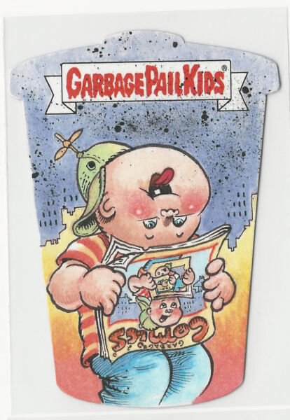2017 Topps Garbage Pail Kids Color SKETCH CARD Die-Cut by Ryan Moffett 11