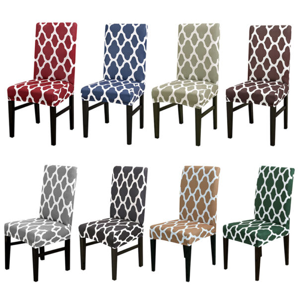 1 4 6Pc Wedding Banquet Chair Covers Spandex Stretch Seat Slipcovers Dining Room $17.99