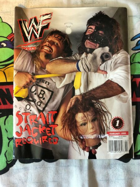 Mick Foley Al Snow Head February 1999 WWF Wrestling Magazine WWE Wrestler