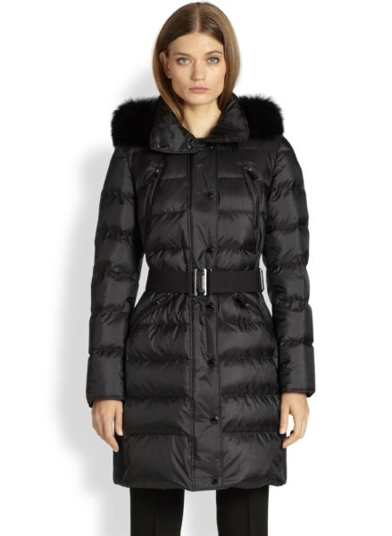 Burberry Women#x27;s Black Abingerf Down Puffer Coat $850.00