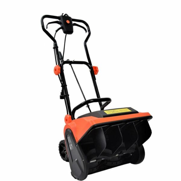 16 inch 9-Amp Electric Powered Snow Thrower Yard Power Shovel w Wheels EJWOX