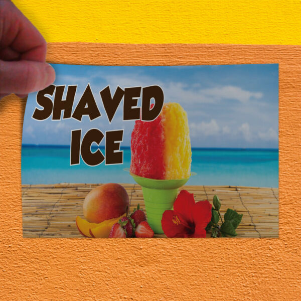 Decal Sticker Shaved Ice #1 Style C Retail cold dessert Outdoor Store Sign blue