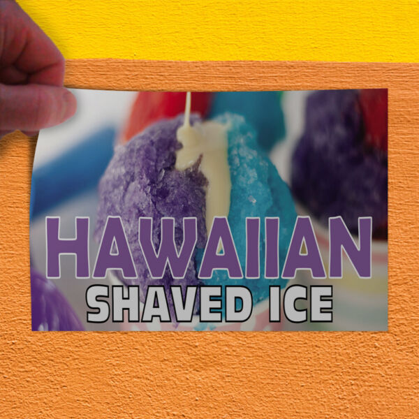 Decal Sticker Hawaiian Shaved Ice #1 Style G Retail Outdoor Store Sign Purple