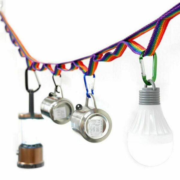 Colorful Tent Hang Lanyard Rope Cord Clotheslines Camping Outdoor Accessories $7.44