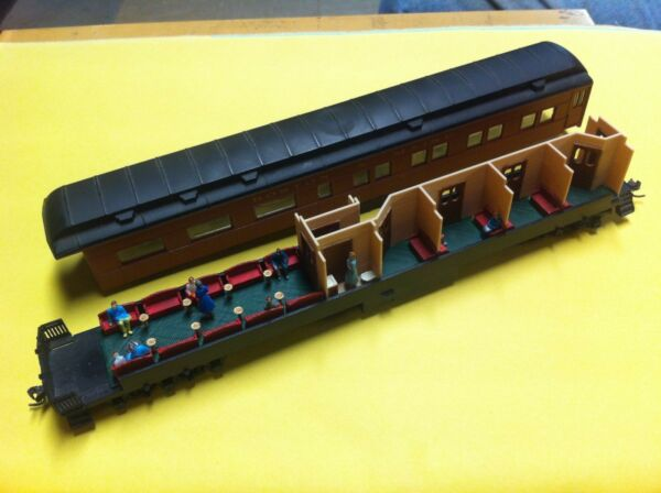 LOT OF 2 HO SCALE  INTERIORS FOR ATHEARN HEAVYWEIGHT OBSERVATION PASSENGER CARS