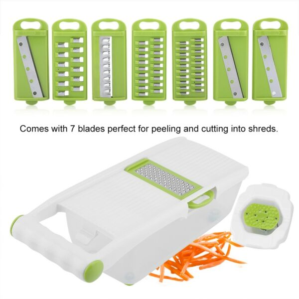 7in1 Stainless Steel Cabbage Graters Vegetable Peeler Salad Potato Slicer Cutter