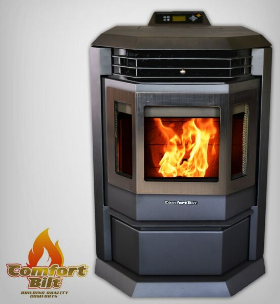 Comfortbilt HP22 Metallic Black Pellet Stove Fireplace 50000 btu w SS Door Trim $1999.00
