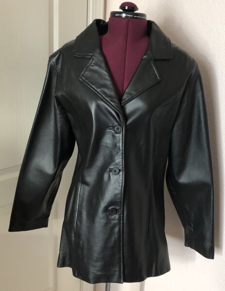 Women's Frequency Outwear Leather Jacket Size Medium Free Shipping 190