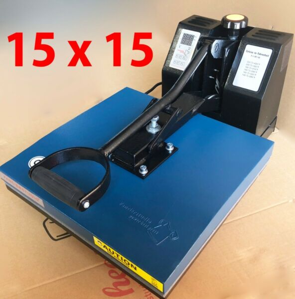 15 x 15 Digital Clamshell Heat Press Transfer T Shirt Sublimation Press Machine $149.99