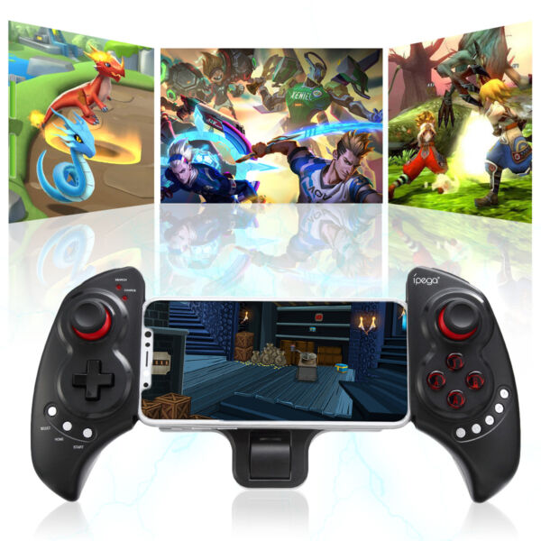 Wireless Bluetooth Game Controller Telescopic Joystick for Android Phone Tablet