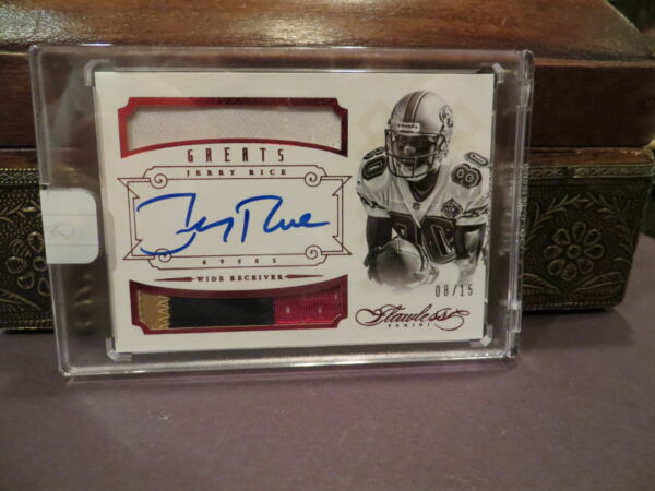 Panini Flawless Ruby On Card Autograph Jersey  49ers Jerry Rice  0815  2014