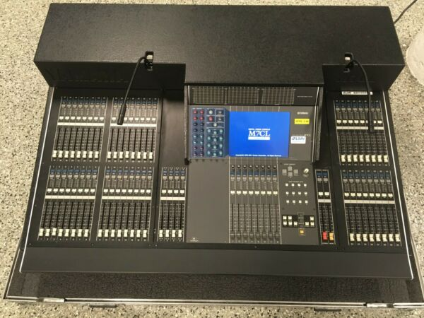 Yamaha M7CL-48 Digital Live Audio Mixing Console with Meter Bridge and Road Case