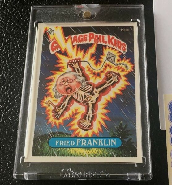 1986 Topps Vault Garbage Pail Kids Series 5 Proof Card Fried Franklin Unscored