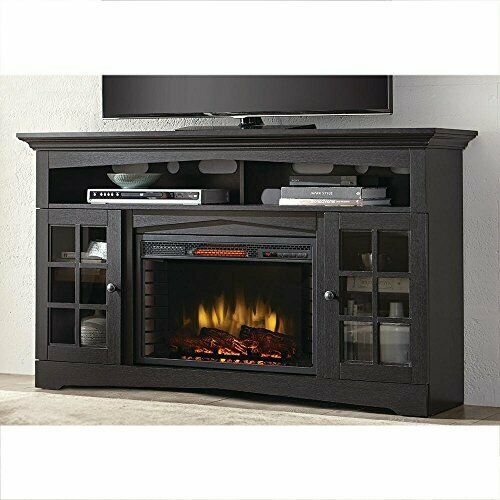 Home Decorators 365-166-170-Y 59 in. TV Stand Infrared Electric Fireplace