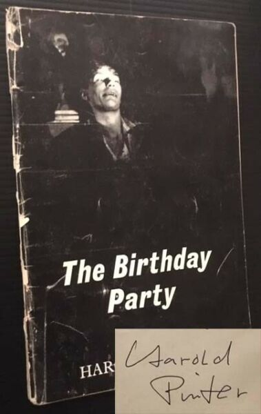 Harold Pinter  The Birthday Party A Play in Three Acts Signed 1st Edition 1959