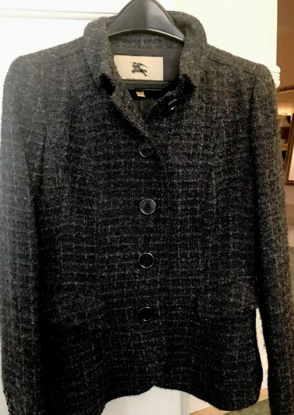 BURBERRY COLLECTION Coats amp; Jackets 928005 Grey US8 $189.00
