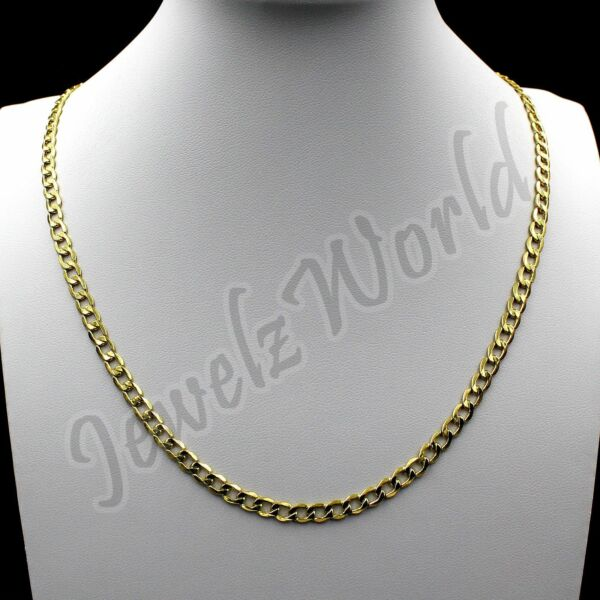 Real 10K Solid Yellow Gold 2.5mm Cuban Link Chain Necklace 16quot; 24quot; Curb Chain