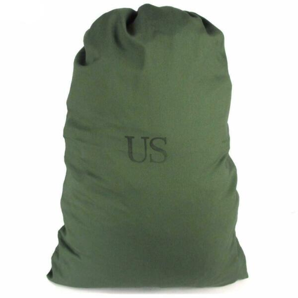 Genuine US Military 100% Cotton Durable Canvas Laundry Bag Olive Drab Green