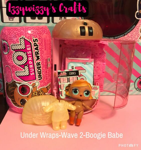LOL Surprise Under Wraps BOOGIE BABE Doll Wave 2 Capsule mostly unopened
