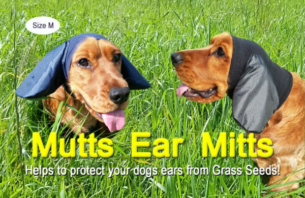 Dogs Ear Protectors. Mutts Ear Mitts Cocker Springer Spaniel Ear Covers for Dog GBP 23.99