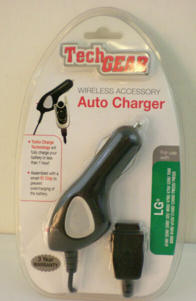 Wireless Accessory AUTO Charger For use with LG Cell phones Sealed $6.99