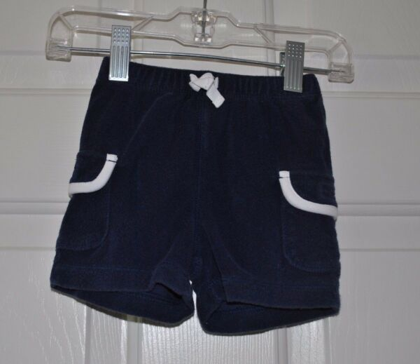 babyGap Infant Navy Blue Toweling Terry Cloth Shorts Size 3-6 months