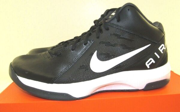 NIKE The Air Overplay IX Men's Basketball Shoes 831572-001  Black   NEW