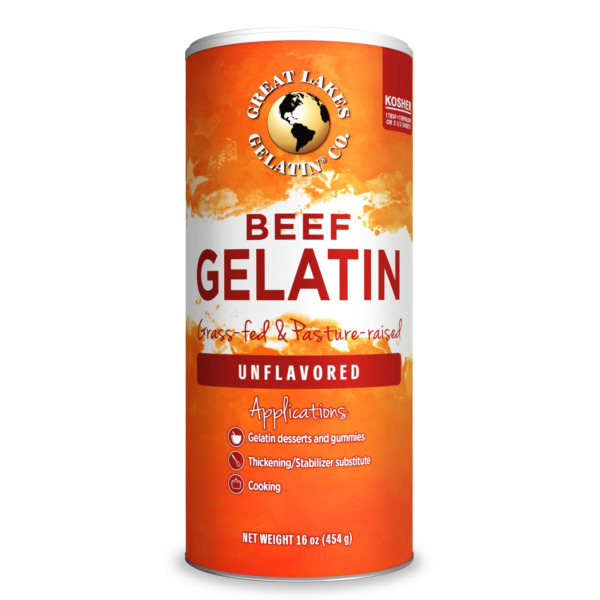 Great Lakes Unflavored Beef Gelatin Collagen  16 oz Can - Kosher