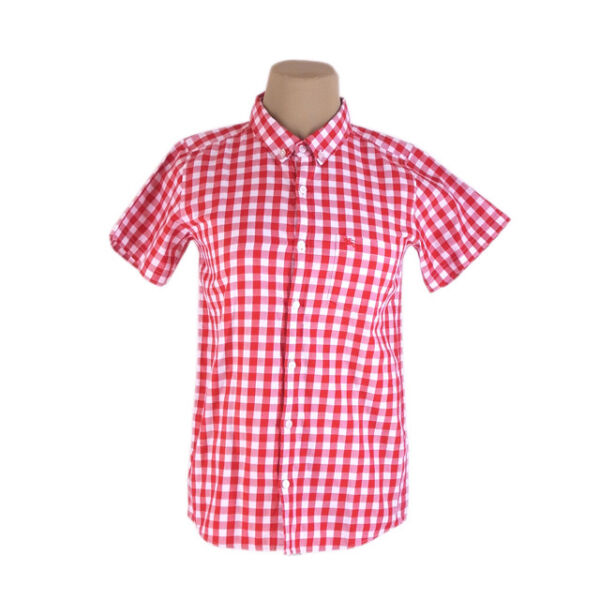 Burberry Shirts White Red Mens Authentic Used C1526 $212.80