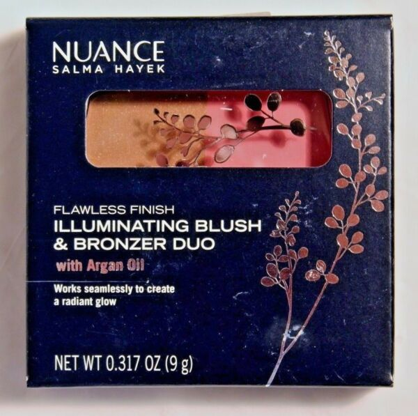 Nuance Blush and Bronzer Duo Shade 555 Coral Glow Salma Hayek New Cruelty Free