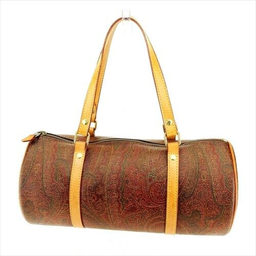 Etro bag Hand bag Paisley Brown PVC leather Woman Authentic Used Q580 $283.00