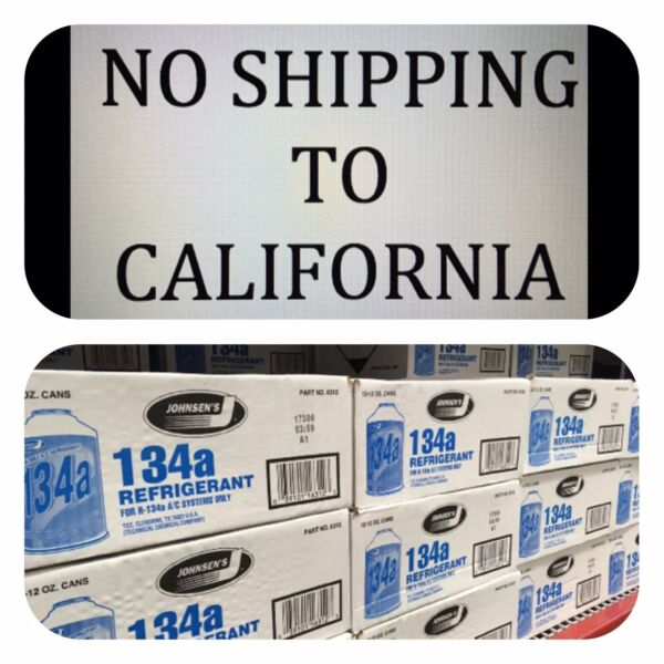 * R134a LOWEST PRICE for SEALED CASE of Refrigerant AC 12 cans 12oz Johnsens USA