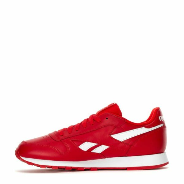 MENS REEBOK CLASSIC CL LEATHER MU DV6590 PRIMARY RED WHITE