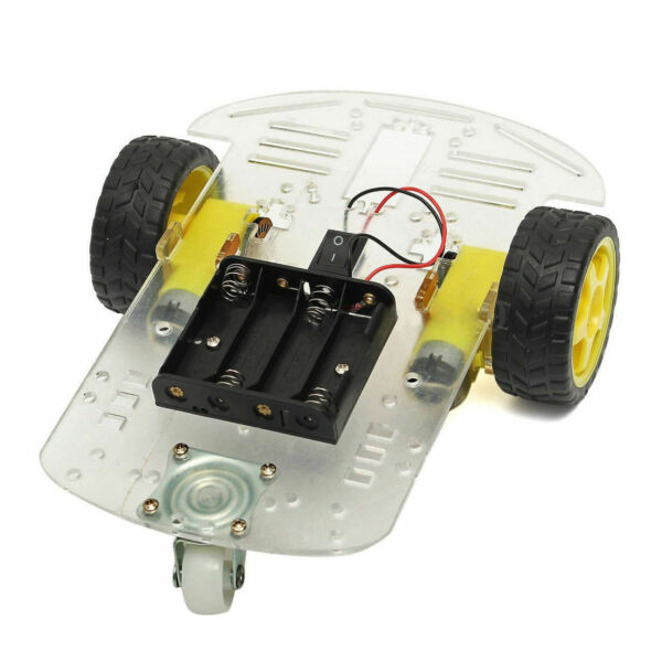 2WD Smart Motor Robot Car Chassis Battery Box Kit Speed for Arduino [EU Ship]