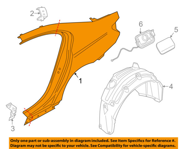 BMW OEM 16-18 740i-Quarter Panel Assembly Right 41007413220