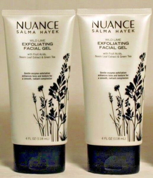 2 Nuance Salma Hayek Wild Lime Exfoliating Facial Gel + Neem Leaf Tea 4 oz