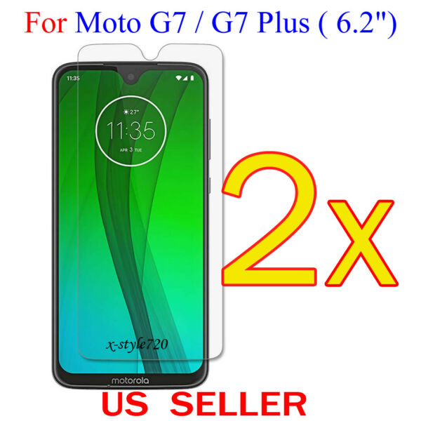 2x Clear LCD Screen Protector Guard Cover Film For Motorola Moto G7G7 Plus 6.2