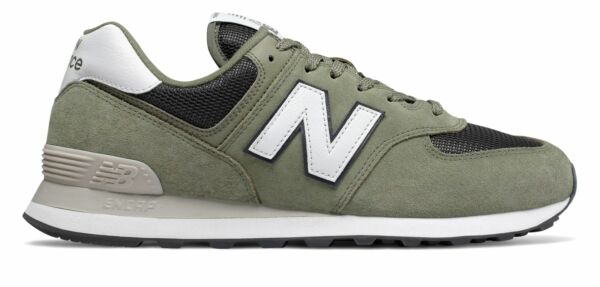 New Balance Men's 574 Shoes Green With Grey
