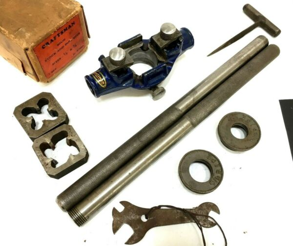 Vintage Tool Craftsman Stock And Pipe Dies R 5524 gt;gt; EXCELLENT CONDITION