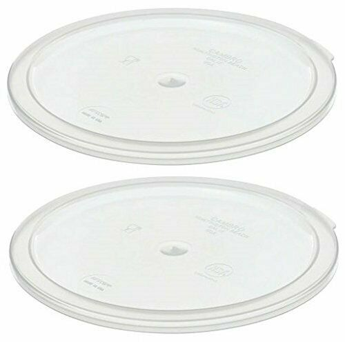 Cambro Round Covers For 1 Qt Storage Containers Set of 2 RFSC1PP190 $8.99