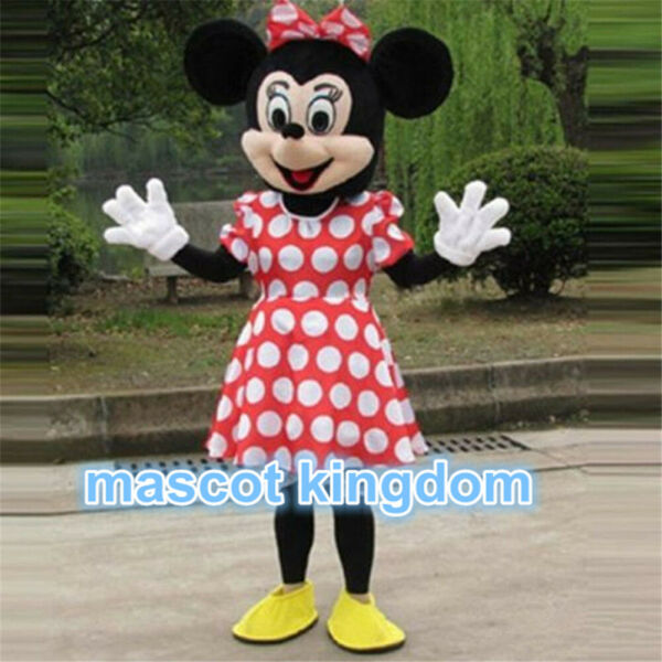 Hot Minnie Mouse Mascot Costume Cartoon birthday Party Fancy Dress Outfit Adult